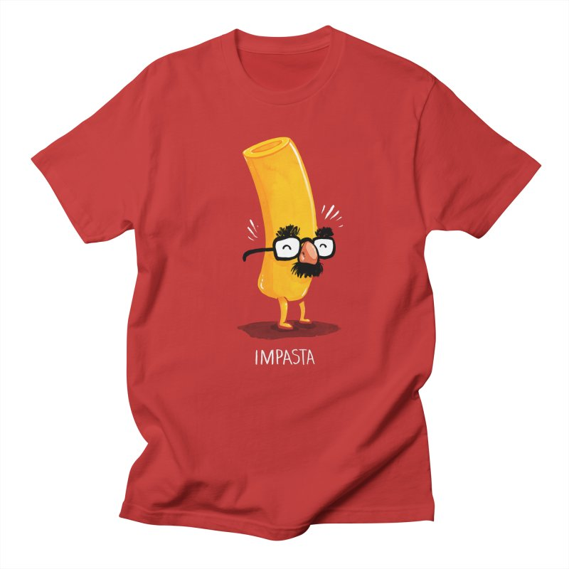 Impasta in Men's Regular T-Shirt Red by Brian Cook