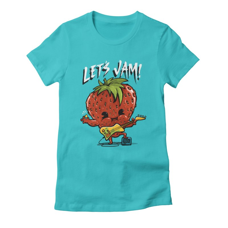Jamming Women's Fitted T-Shirt by Brian Cook