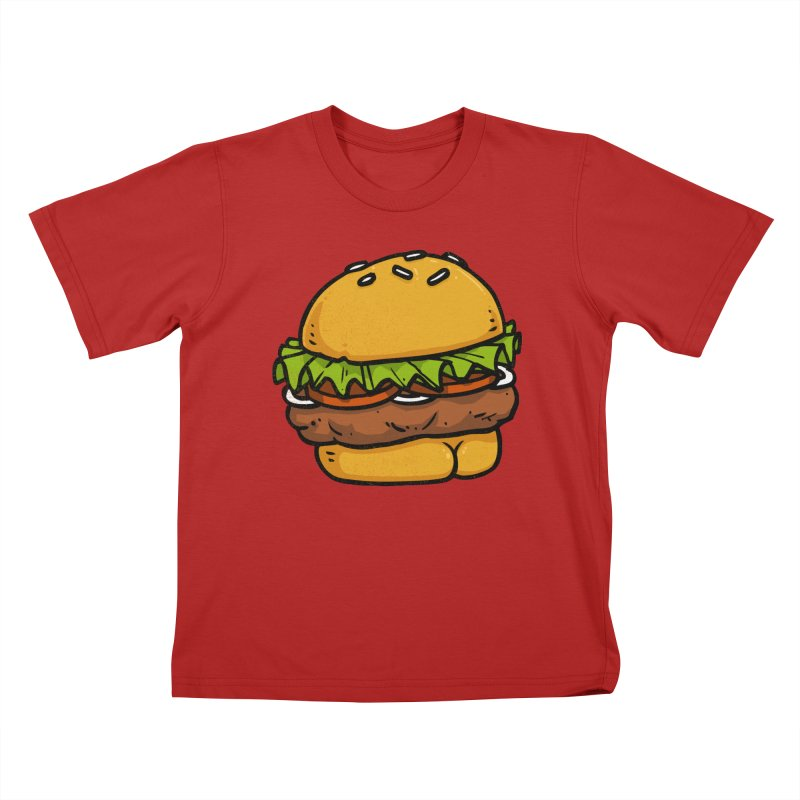 Burger BUTT Kids T-shirt by Brian Cook