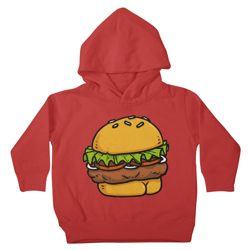 Burger BUTT Kids Toddler Pullover Hoody by Brian Cook