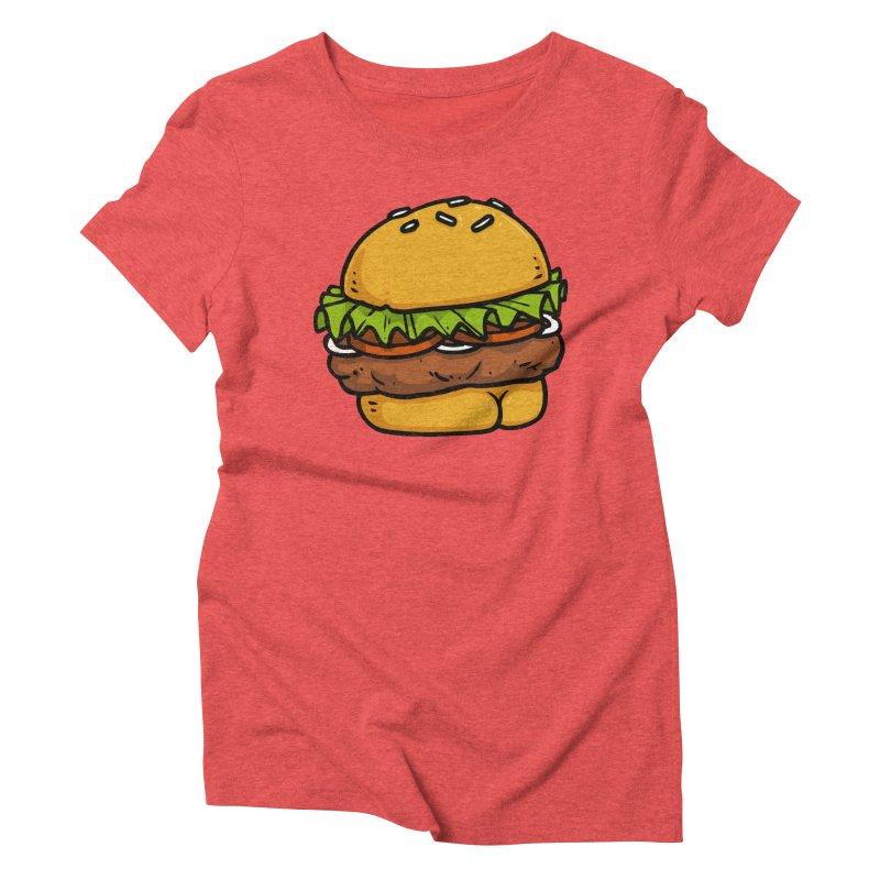 Burger BUTT Women's Triblend T-shirt by Brian Cook