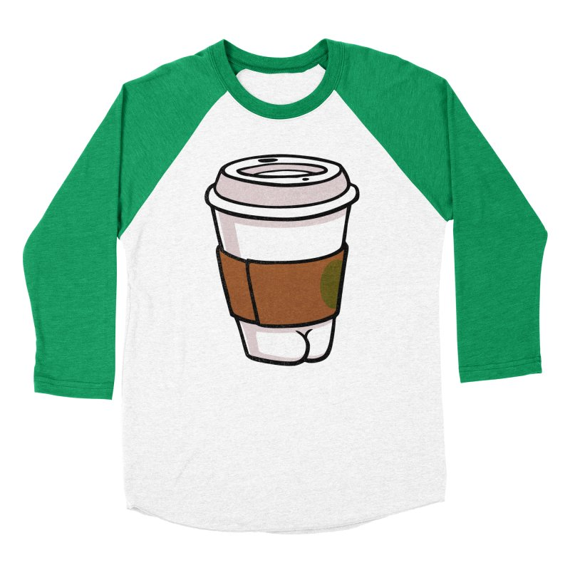 Coffee BUTT Women's Baseball Triblend T-Shirt by Brian Cook