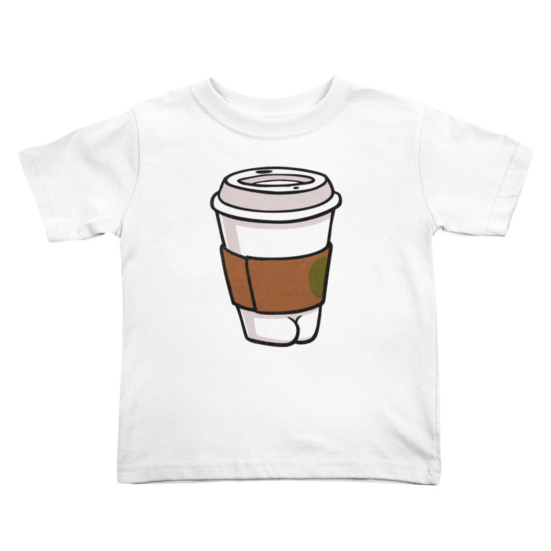 Coffee BUTT Kids Toddler T-Shirt by Brian Cook