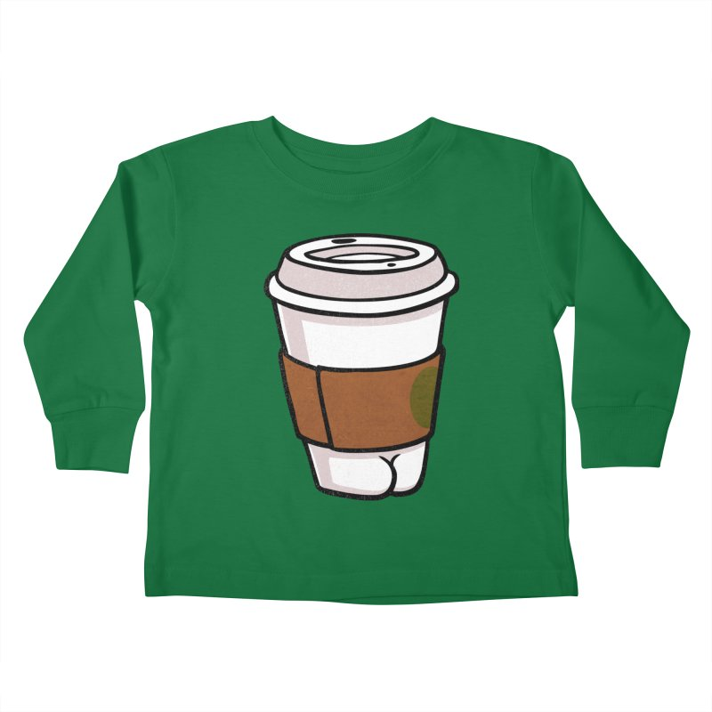 Coffee BUTT Kids Toddler Longsleeve T-Shirt by Brian Cook