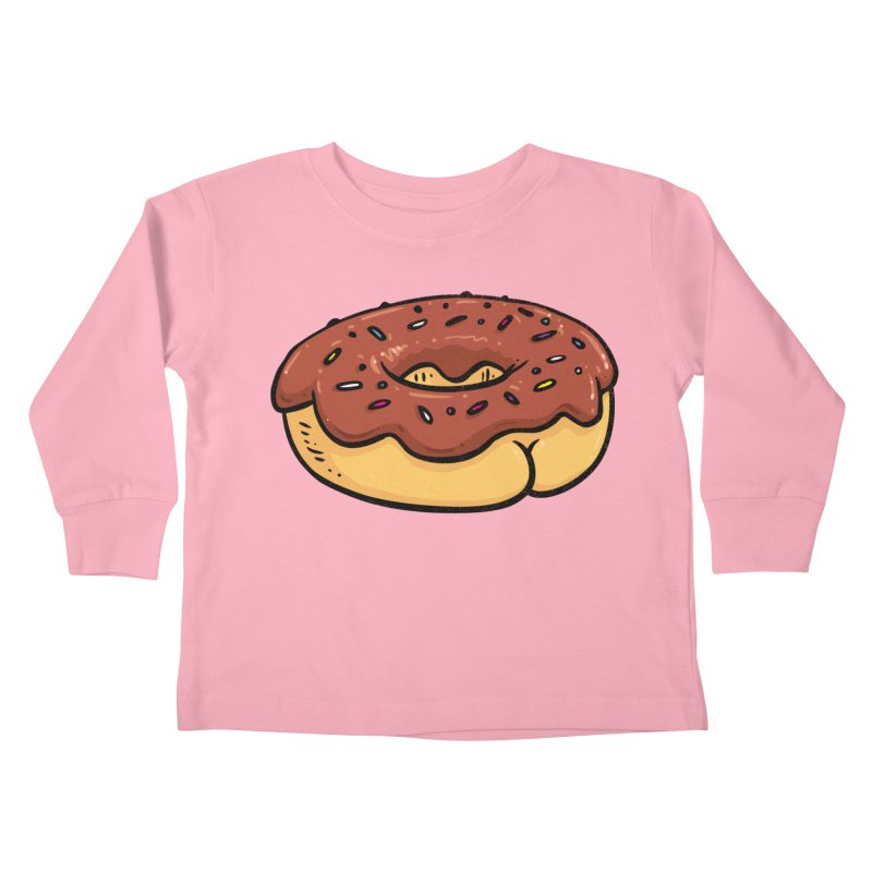 Donut BUTT Kids Toddler Longsleeve T-Shirt by Brian Cook