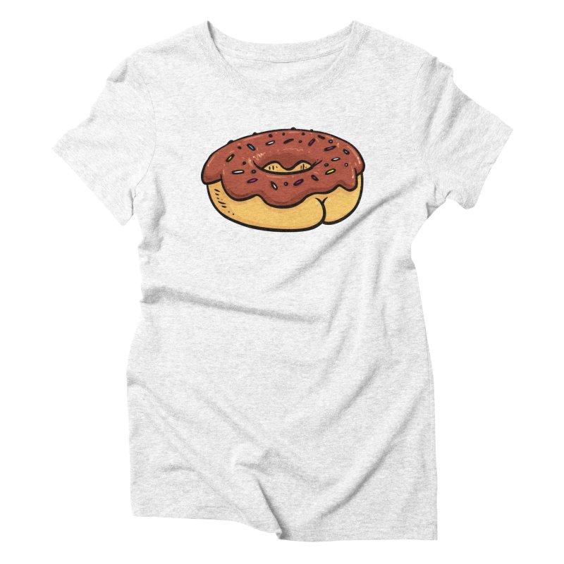 Donut BUTT Women's Triblend T-shirt by Brian Cook