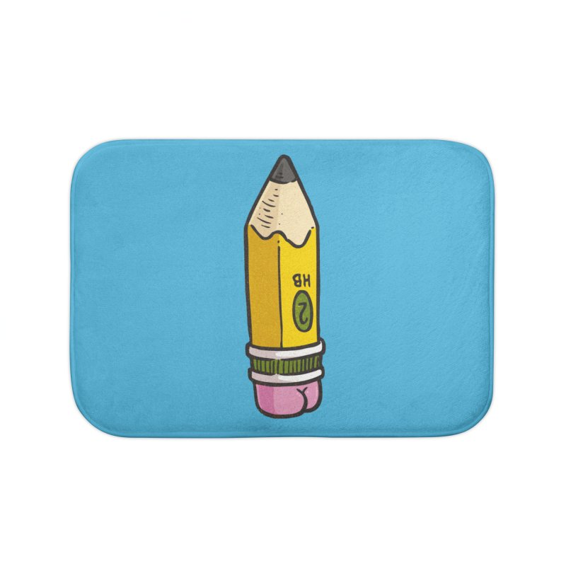Butt on Pencil Home Bath Mat by Brian Cook