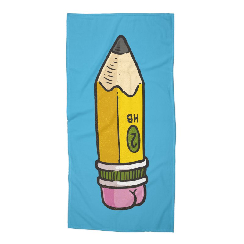 Butt on Pencil Accessories Beach Towel by Brian Cook