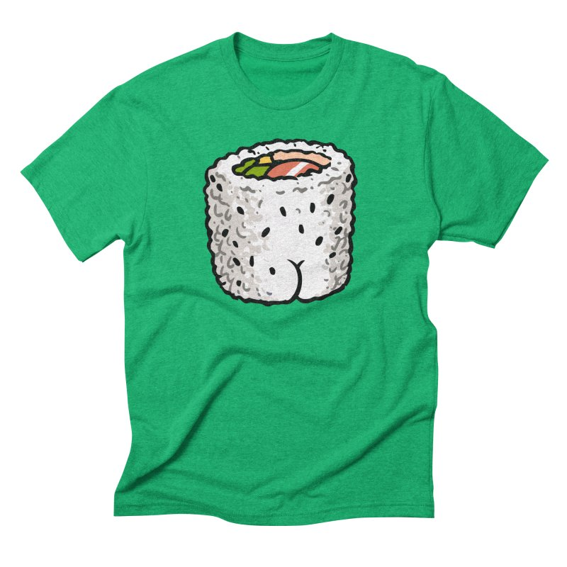 Sushi BUTT Men's Triblend T-shirt by Brian Cook