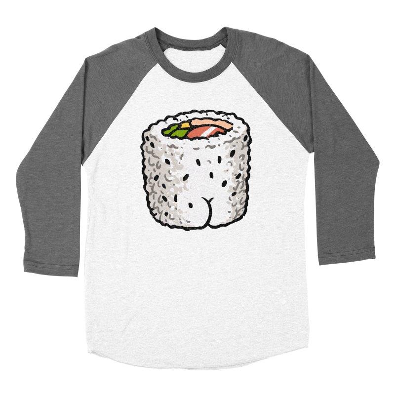 Sushi BUTT Women's Baseball Triblend T-Shirt by Brian Cook