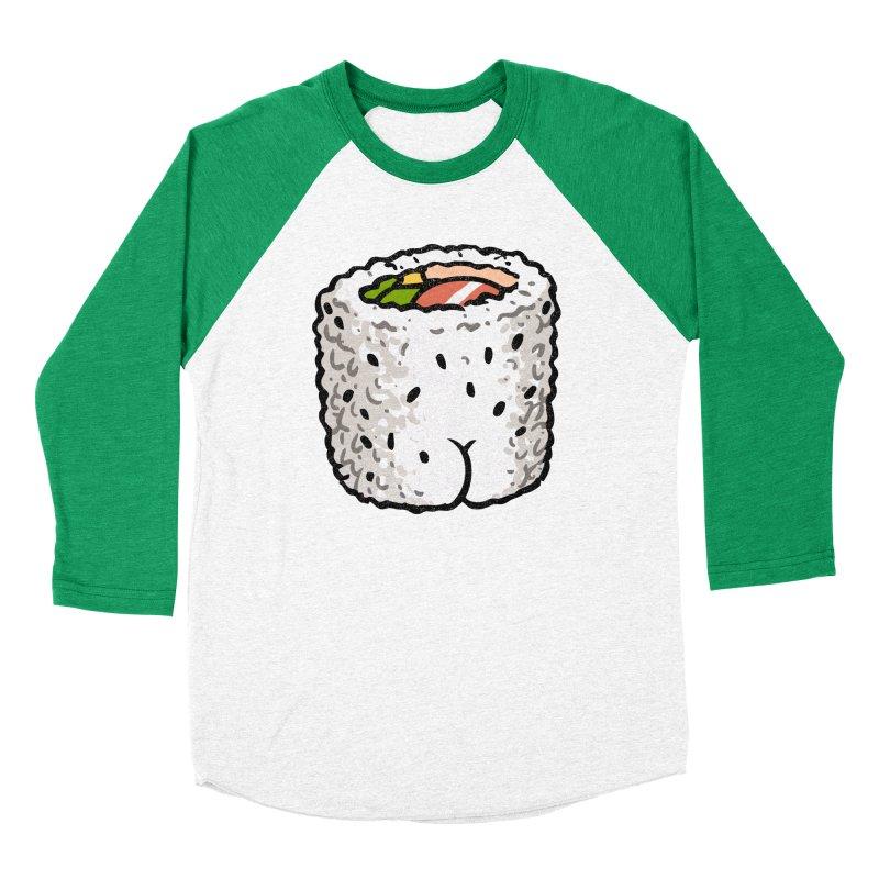 Sushi BUTT Men's Baseball Triblend T-Shirt by Brian Cook