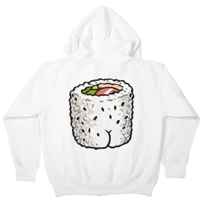 Sushi BUTT Kids Zip-Up Hoody by Brian Cook
