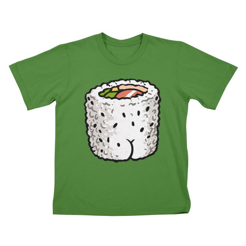 Sushi BUTT Kids T-shirt by Brian Cook