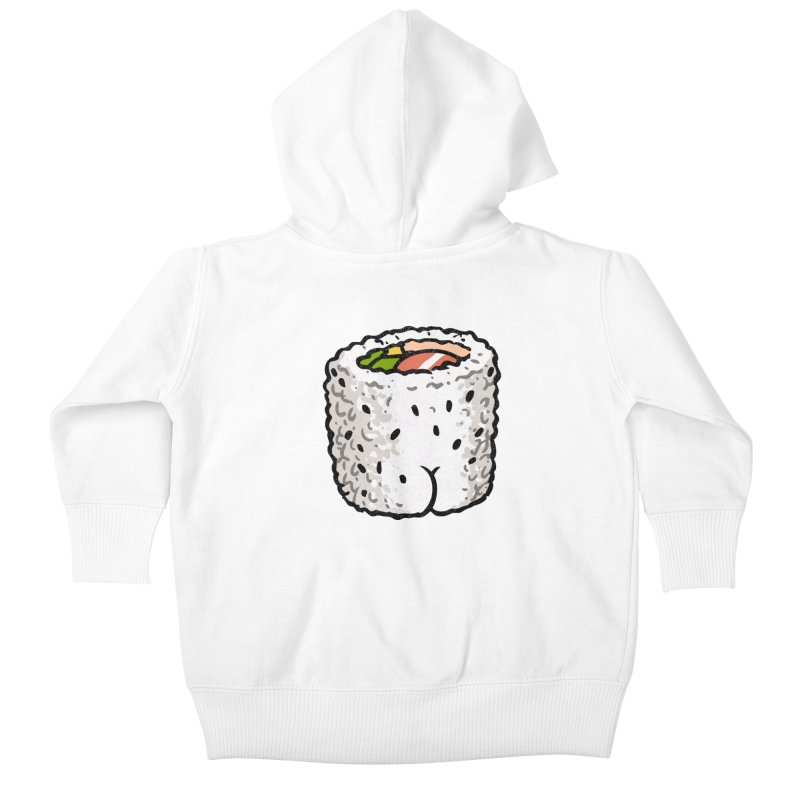 Sushi BUTT Kids Baby Zip-Up Hoody by Brian Cook