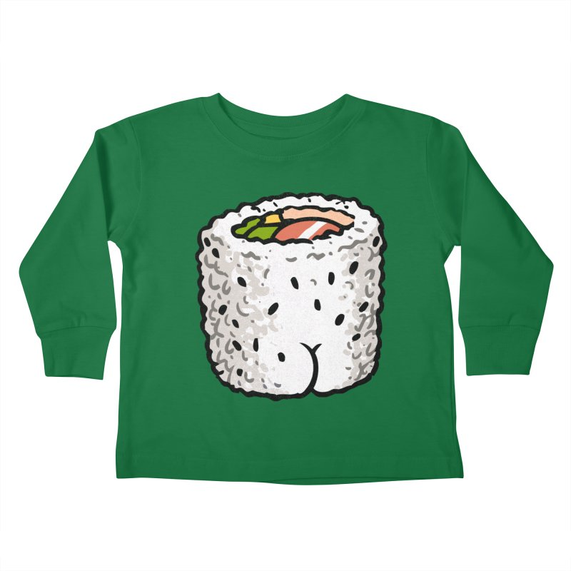 Sushi BUTT Kids Toddler Longsleeve T-Shirt by Brian Cook