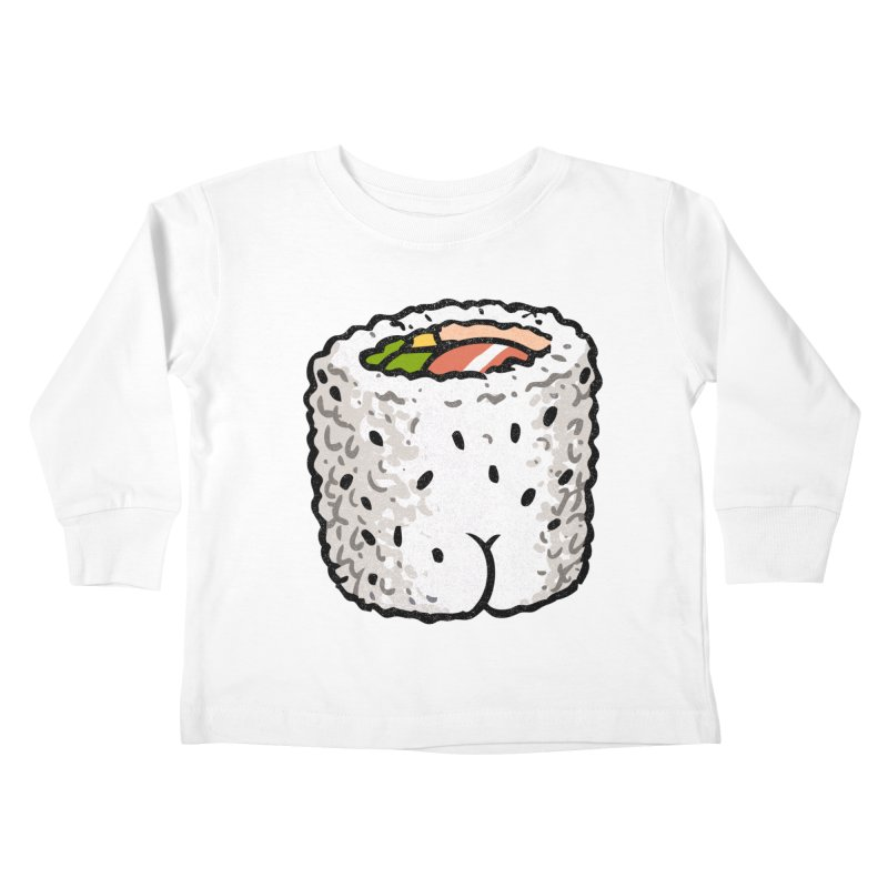 Sushi BUTT Kids Toddler Longsleeve T-Shirt by Brian Cook