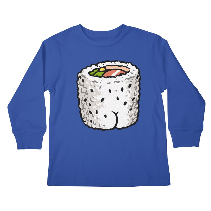Sushi BUTT Kids Longsleeve T-Shirt by Brian Cook