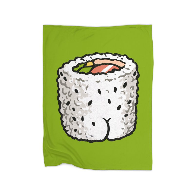 Sushi BUTT Home Blanket by Brian Cook
