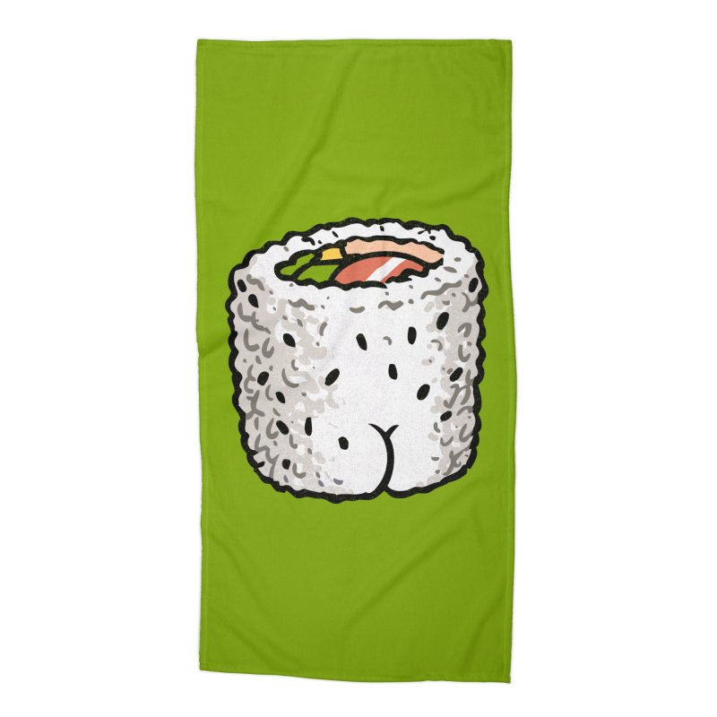 Sushi BUTT Accessories Beach Towel by Brian Cook