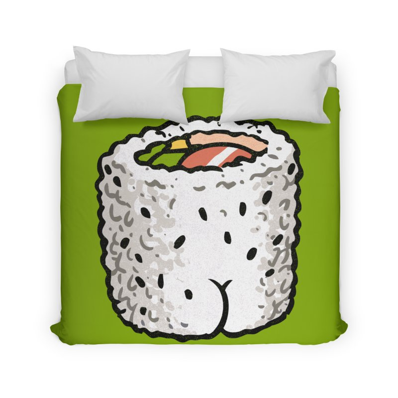 Sushi BUTT Home Duvet by Brian Cook