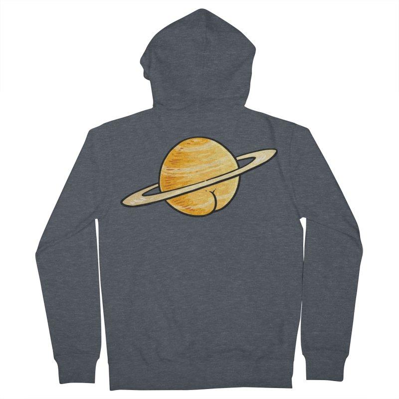 Saturn BUTT Men's Zip-Up Hoody by Brian Cook
