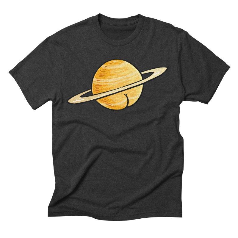 Saturn BUTT Men's Triblend T-shirt by Brian Cook