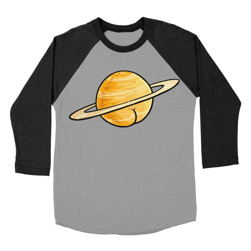 Saturn BUTT Women's Baseball Triblend T-Shirt by Brian Cook