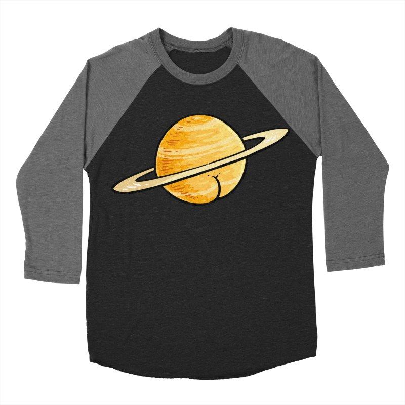Saturn BUTT Men's Baseball Triblend T-Shirt by Brian Cook
