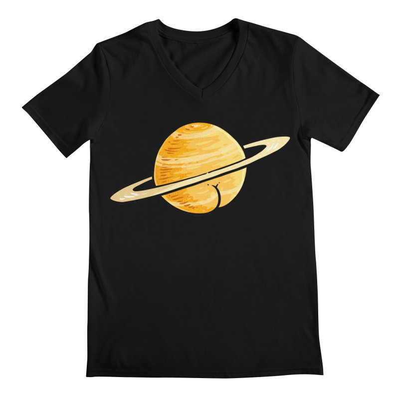 Saturn BUTT Men's V-Neck by Brian Cook