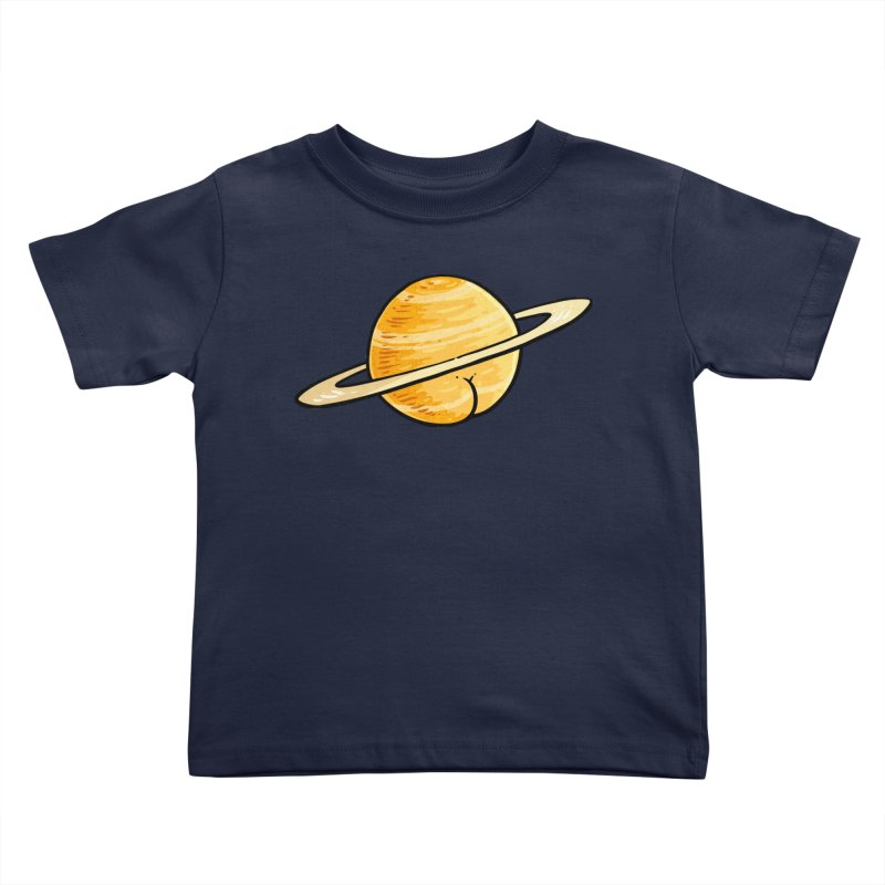 Saturn BUTT Kids Toddler T-Shirt by Brian Cook