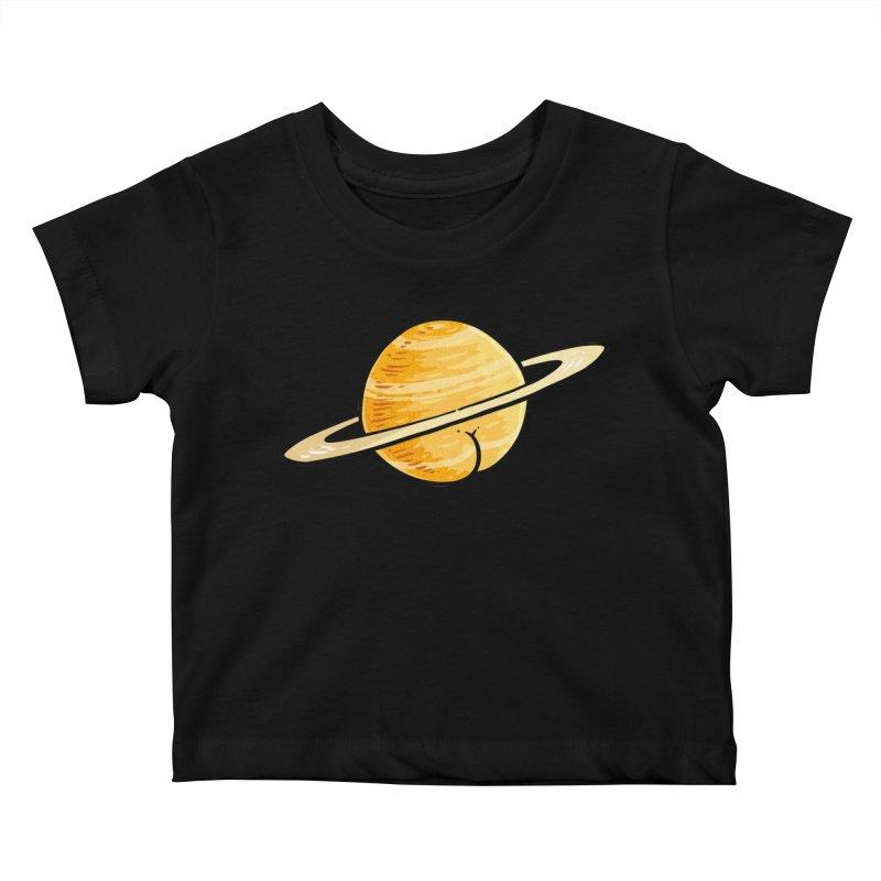 Saturn BUTT Kids Baby T-Shirt by Brian Cook