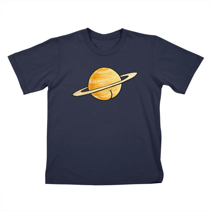 Saturn BUTT Kids T-shirt by Brian Cook
