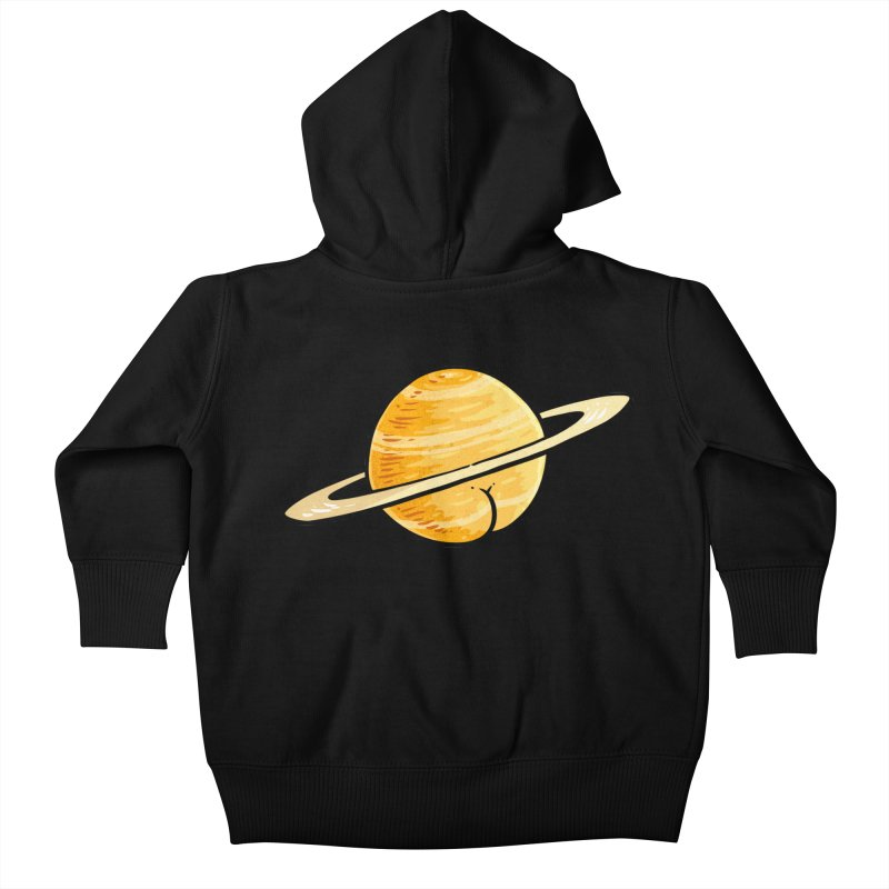 Saturn BUTT Kids Baby Zip-Up Hoody by Brian Cook