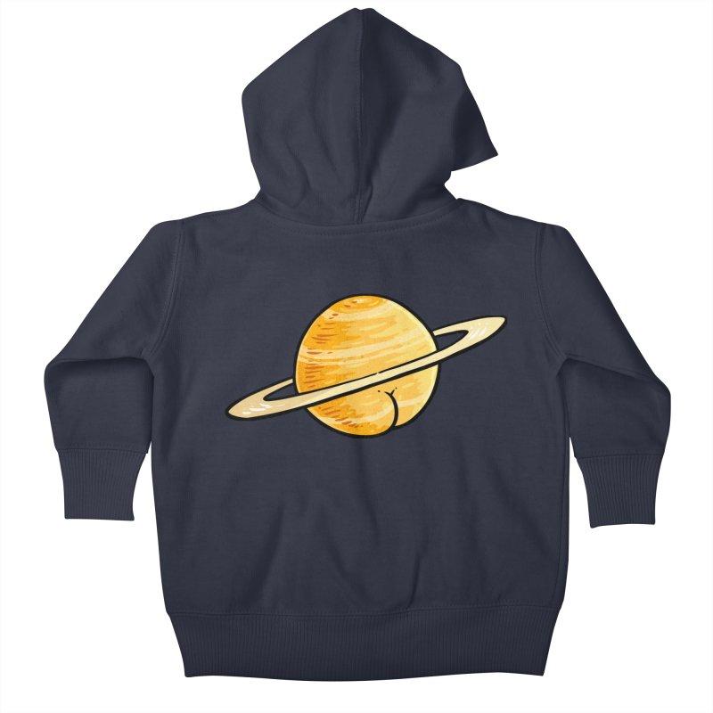 Saturn BUTT Kids Baby Zip-Up Hoody by Brian Cook