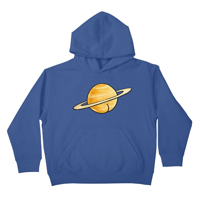 Saturn BUTT Kids Pullover Hoody by Brian Cook
