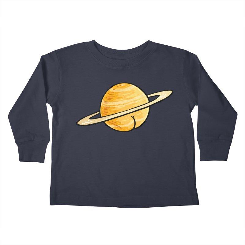 Saturn BUTT Kids Toddler Longsleeve T-Shirt by Brian Cook
