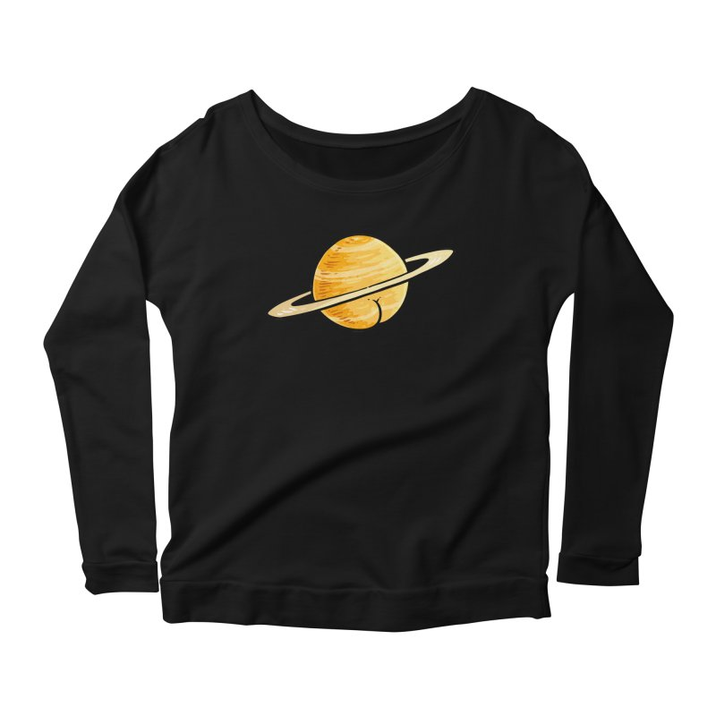 Saturn BUTT Women's Longsleeve Scoopneck  by Brian Cook