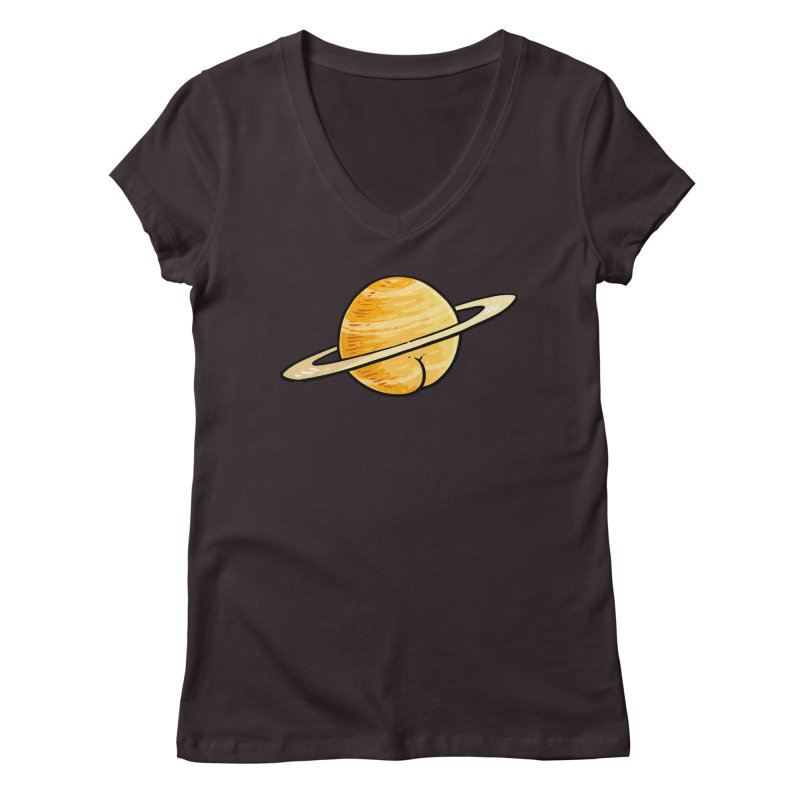 Saturn BUTT Women's V-Neck by Brian Cook