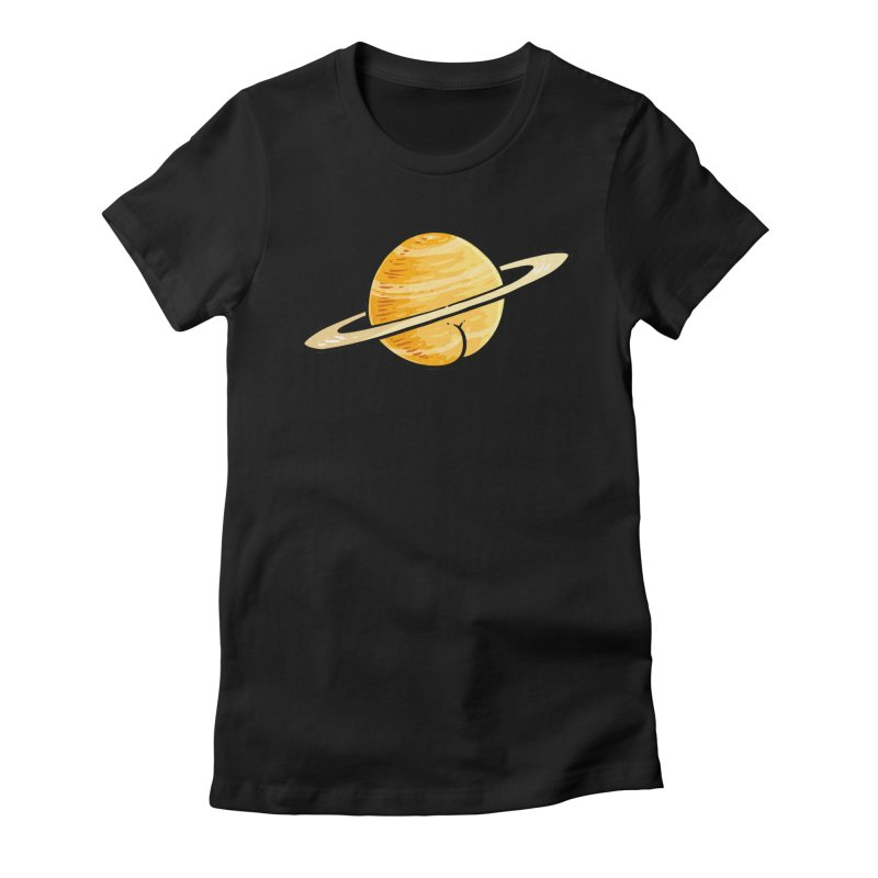 Saturn BUTT Women's Fitted T-Shirt by Brian Cook