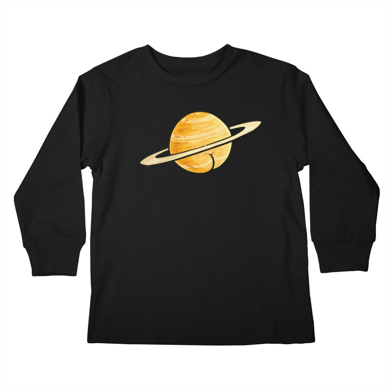 Saturn BUTT Kids Longsleeve T-Shirt by Brian Cook