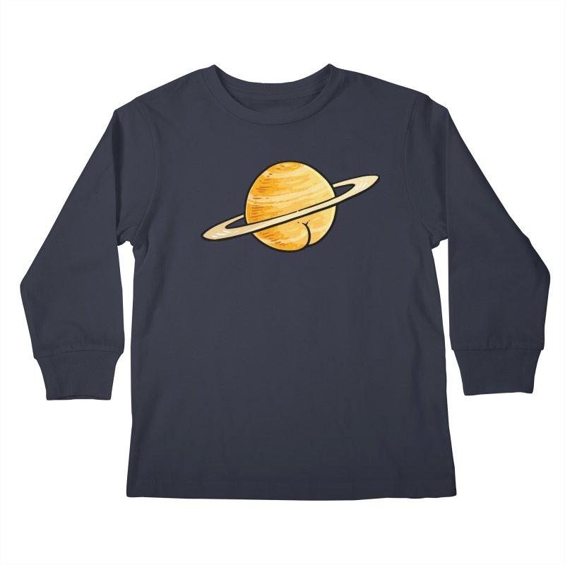Saturn BUTT Kids Longsleeve T-Shirt by Brian Cook