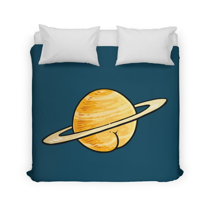 Saturn BUTT Home Duvet by Brian Cook