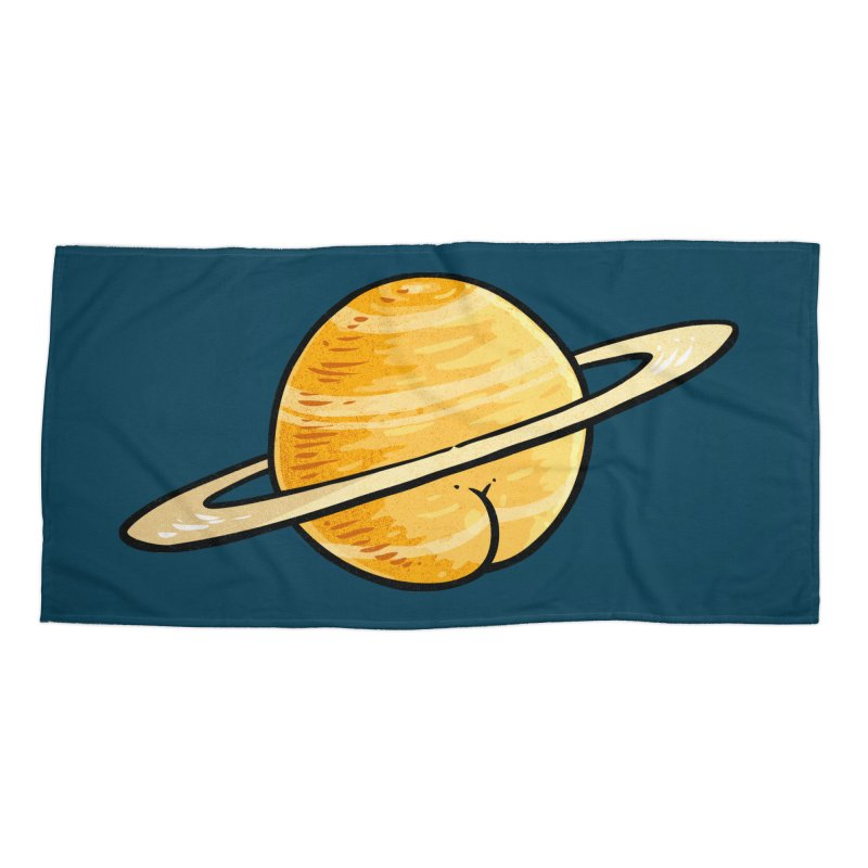 Saturn BUTT Accessories Beach Towel by Brian Cook