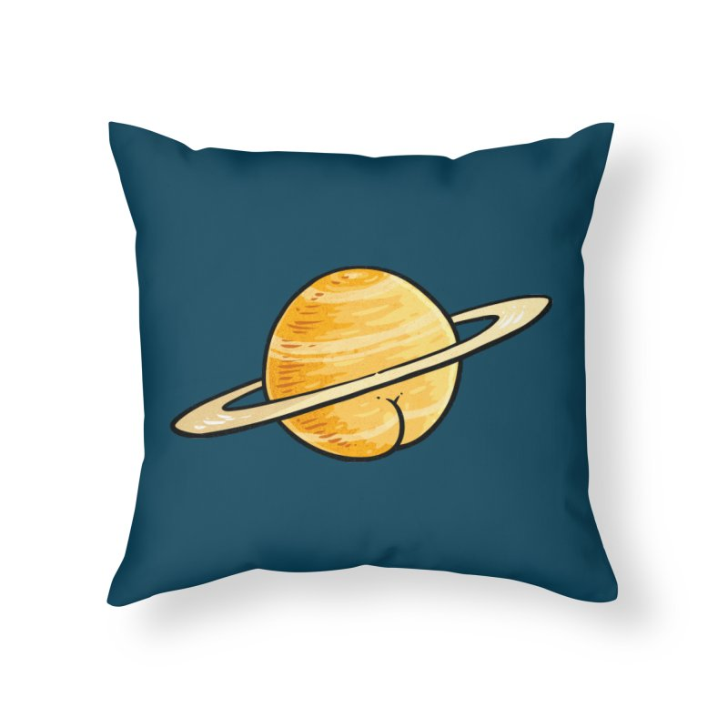 Saturn Butt Home Throw Pillow by Brian Cook