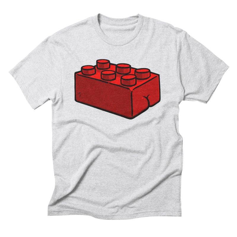 Building Block BUTT Men's Triblend T-shirt by Brian Cook