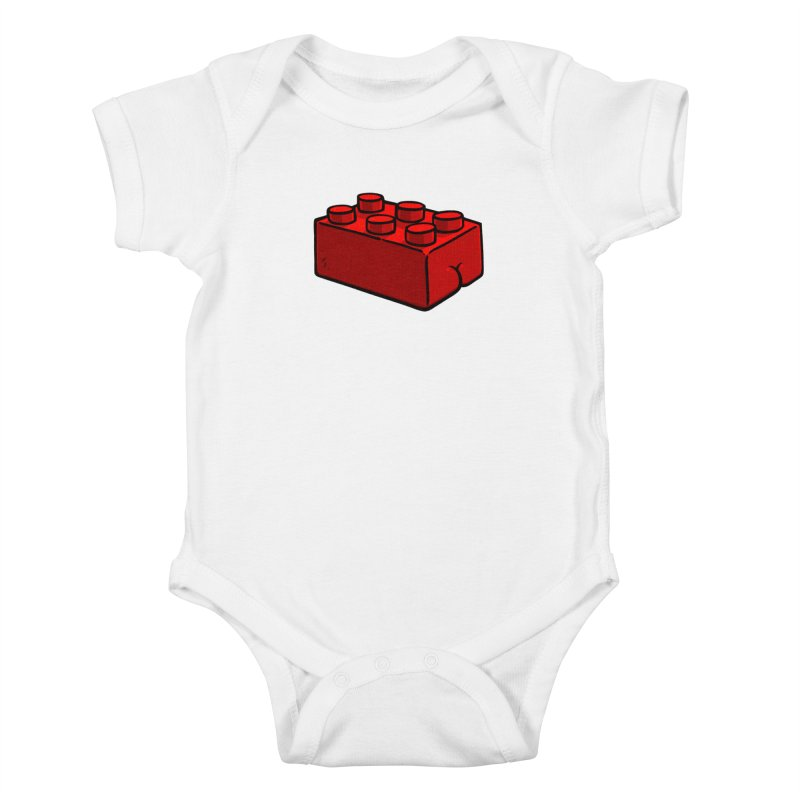 Building Block BUTT Kids Baby Bodysuit by Brian Cook
