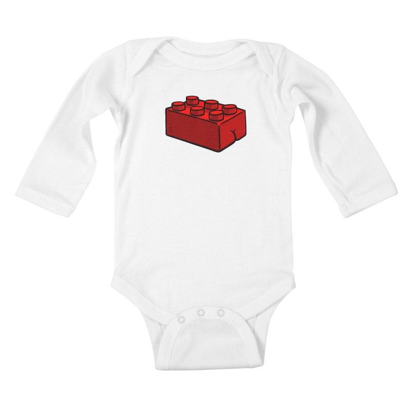 Building Block BUTT Kids Baby Longsleeve Bodysuit by Brian Cook