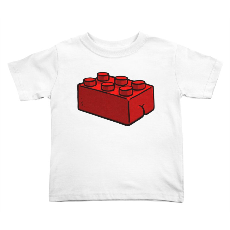 Building Block BUTT Kids Toddler T-Shirt by Brian Cook