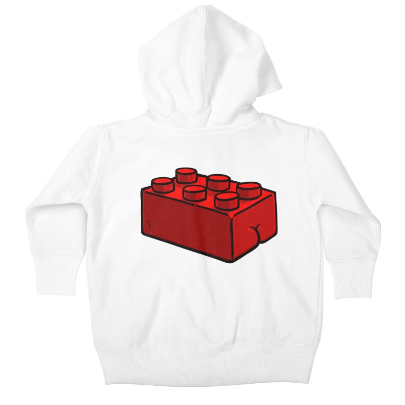 Building Block BUTT Kids Baby Zip-Up Hoody by Brian Cook