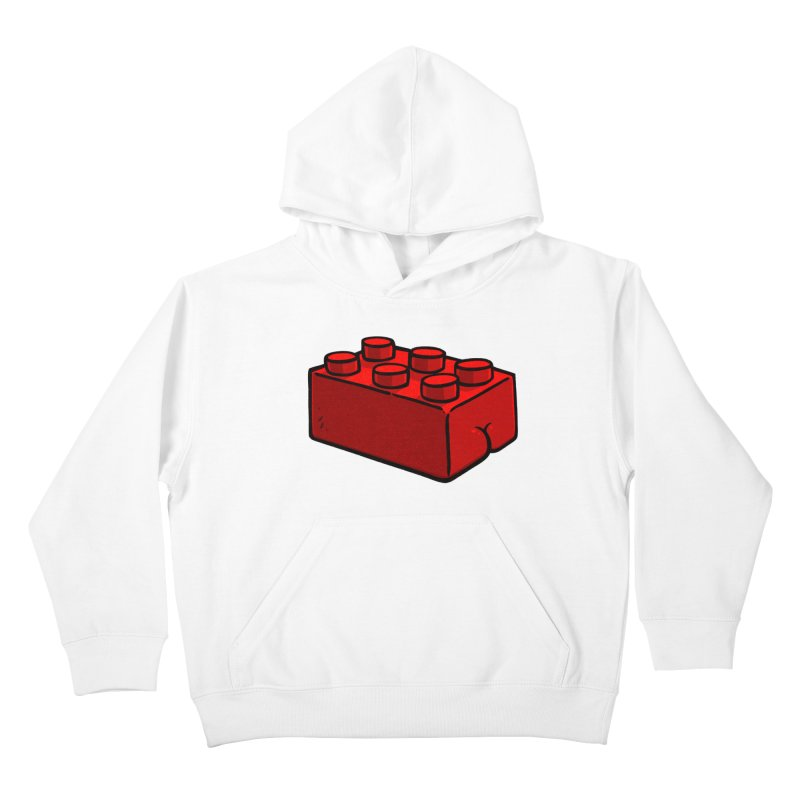 Building Block BUTT Kids Pullover Hoody by Brian Cook